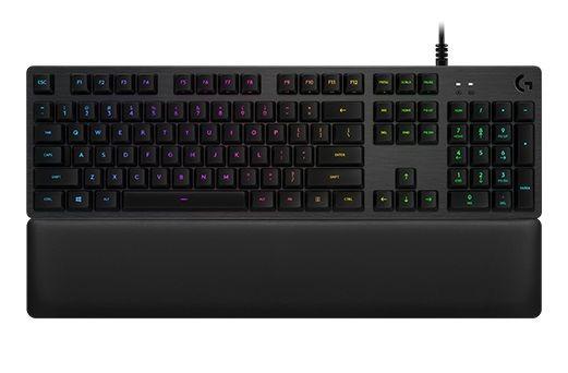 Клавиатура LOGITECH G513 Carbon Linear Switch,  USB, c подставкой для запястий, черный [920-008856]