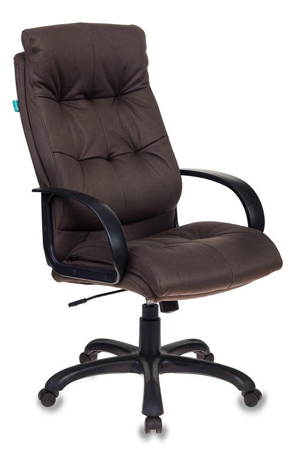 Кресло руководителя БЮРОКРАТ CH-824, на колесиках, искусственный нубук [ch-824b/f4]