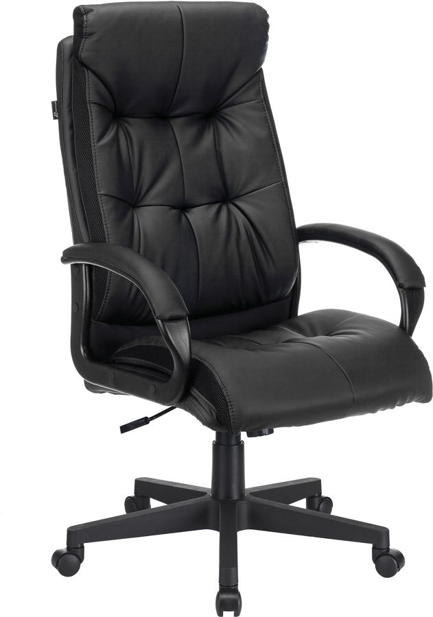Кресло руководителя БЮРОКРАТ CH-824, на колесиках, искусственная кожа [ch-824b/lblack]