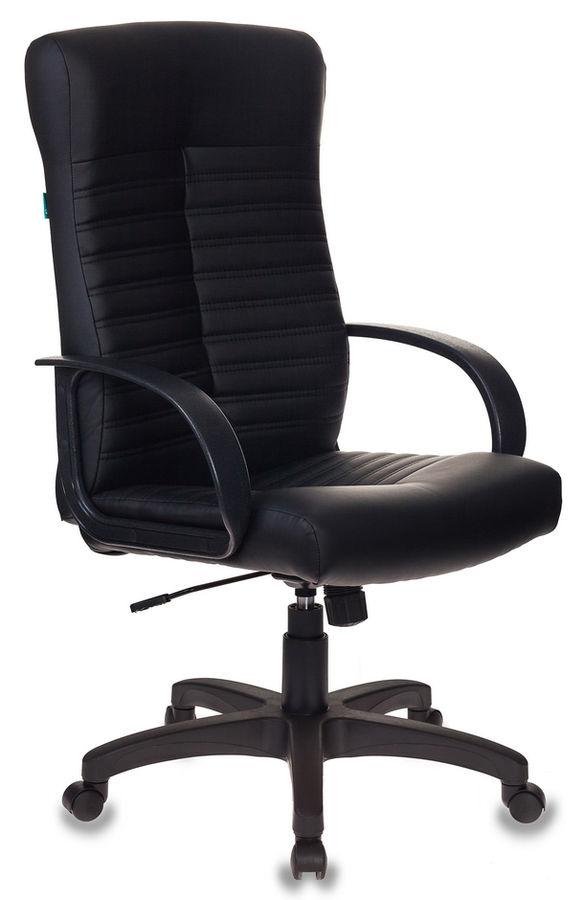 Кресло руководителя БЮРОКРАТ KB-10, на колесиках, искусственная кожа [kb-10lite/black]