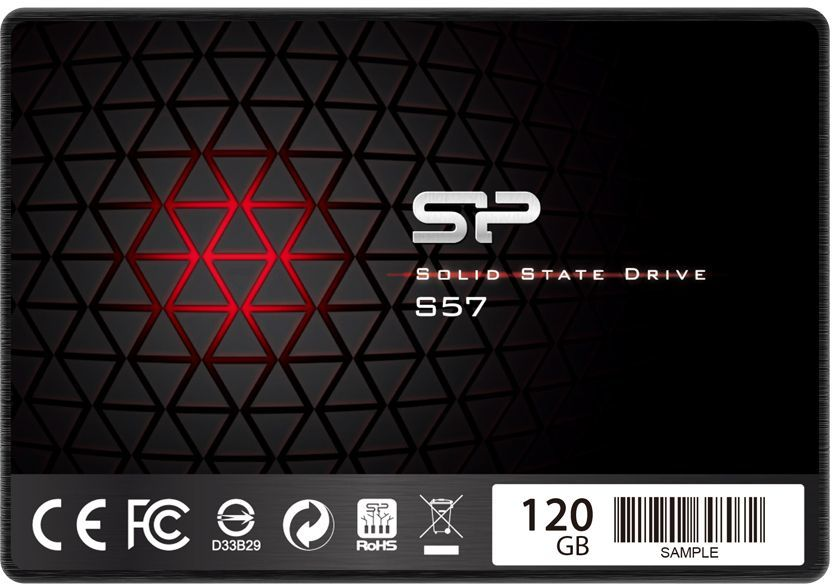 "SSD накопитель SILICON POWER Slim S57 SP120GBSS3S57A25 120Гб, 2.5"", SATA III"