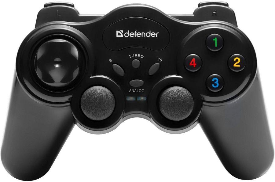 Геймпад беспроводной DEFENDER Game Master черный [64257]