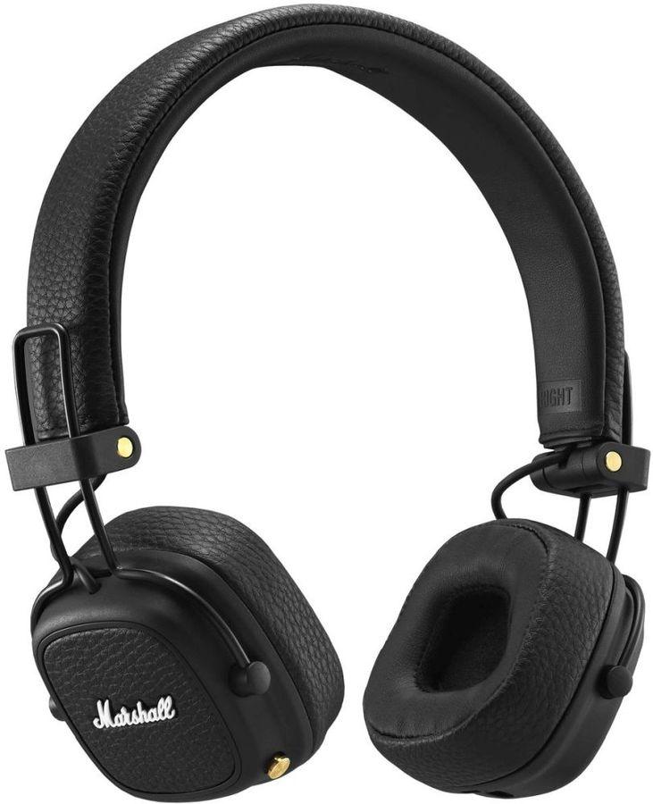 Наушники с микрофоном MARSHALL Major III, 3.5 мм/Bluetooth, накладные, черный [mrshlmajor3blkbt04092186]