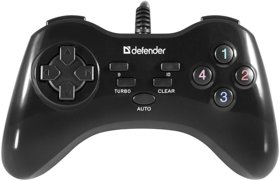 Геймпад проводной DEFENDER Game Master G2 черный [64258]