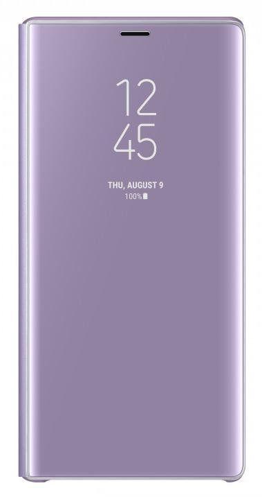 Чехол (флип-кейс) SAMSUNG Clear View Standing Cover, для Samsung Galaxy Note 9, фиолетовый [ef-zn960cvegru]