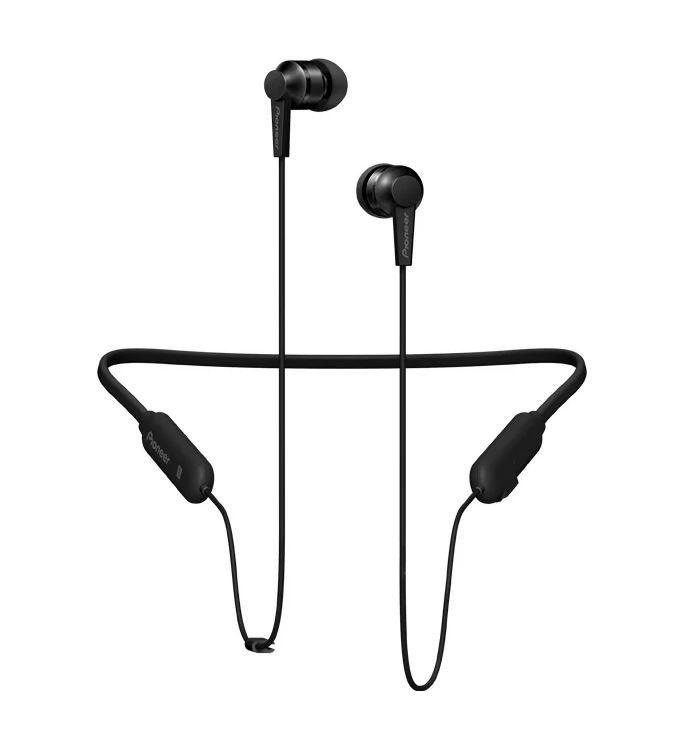 Наушники с микрофоном PIONEER SE-C7BT-B, Bluetooth, вкладыши, черный