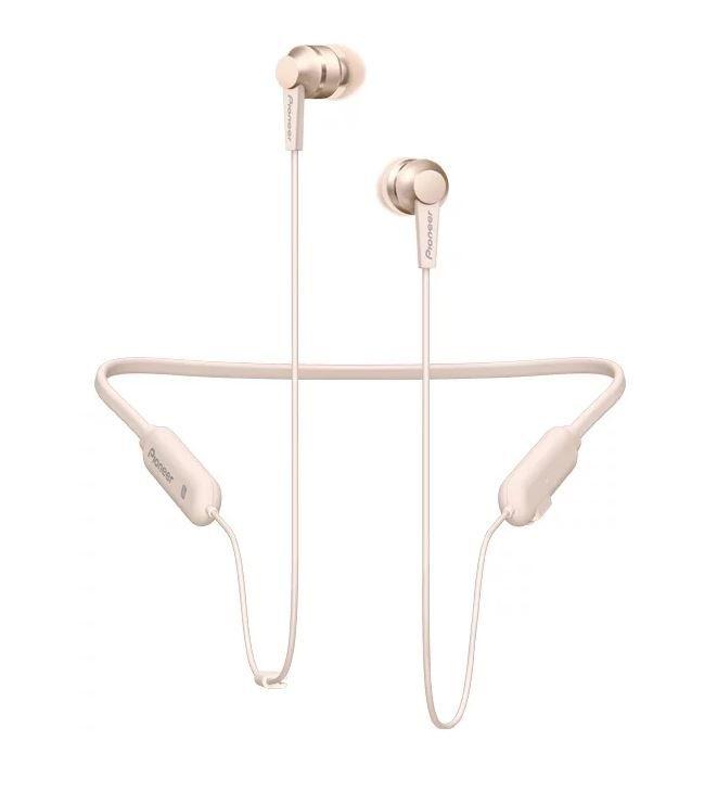 Наушники с микрофоном PIONEER SE-C7BT-G, Bluetooth, вкладыши, золотистый