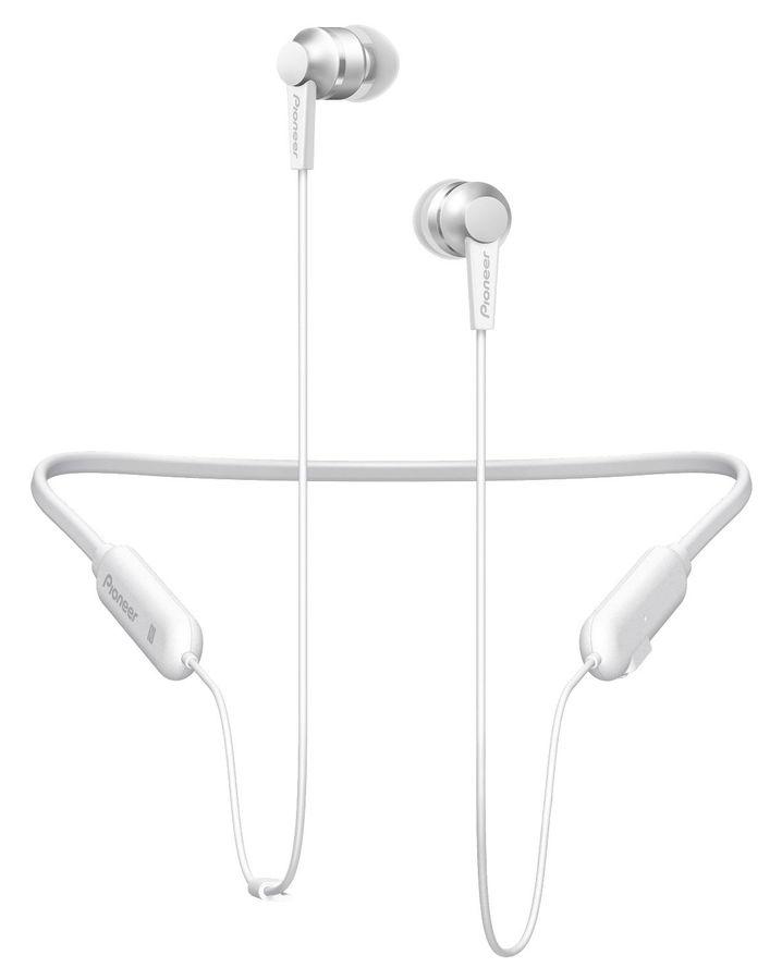 Наушники с микрофоном PIONEER SE-C7BT-W, Bluetooth, вкладыши, белый