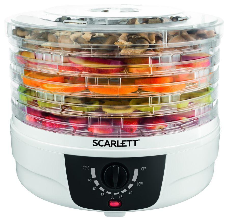 Сушилка для овощей и фруктов SCARLETT SC-FD421004,  белый,  5 поддонов