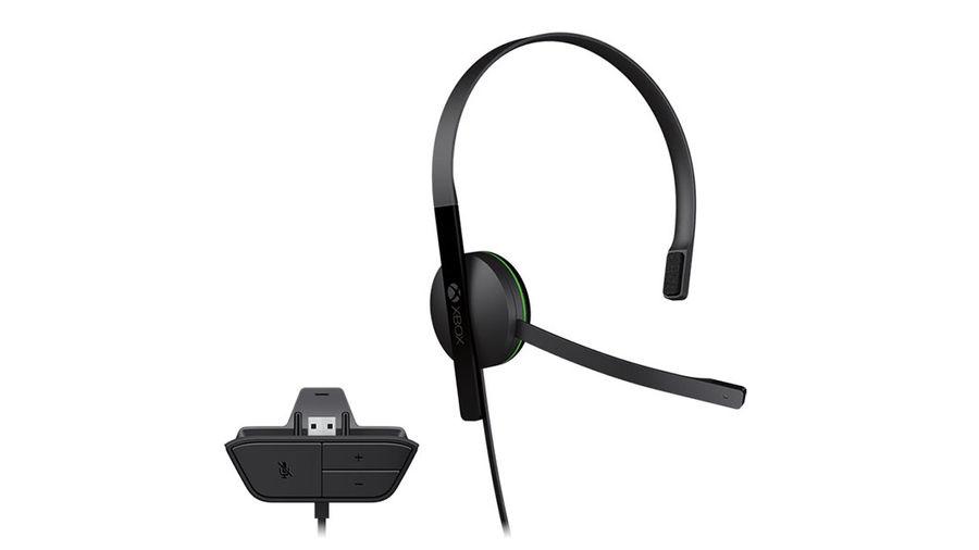 Проводная гарнитура MICROSOFT Chat Headset, для  Xbox One, черный [s5v-00015]