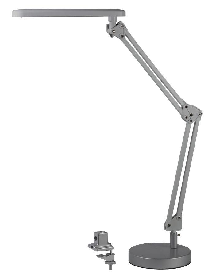 Светильник настольный ЭРА NLED-440 на струбцине/подставке,  7Вт,  серебристый [nled-440-7w-s]