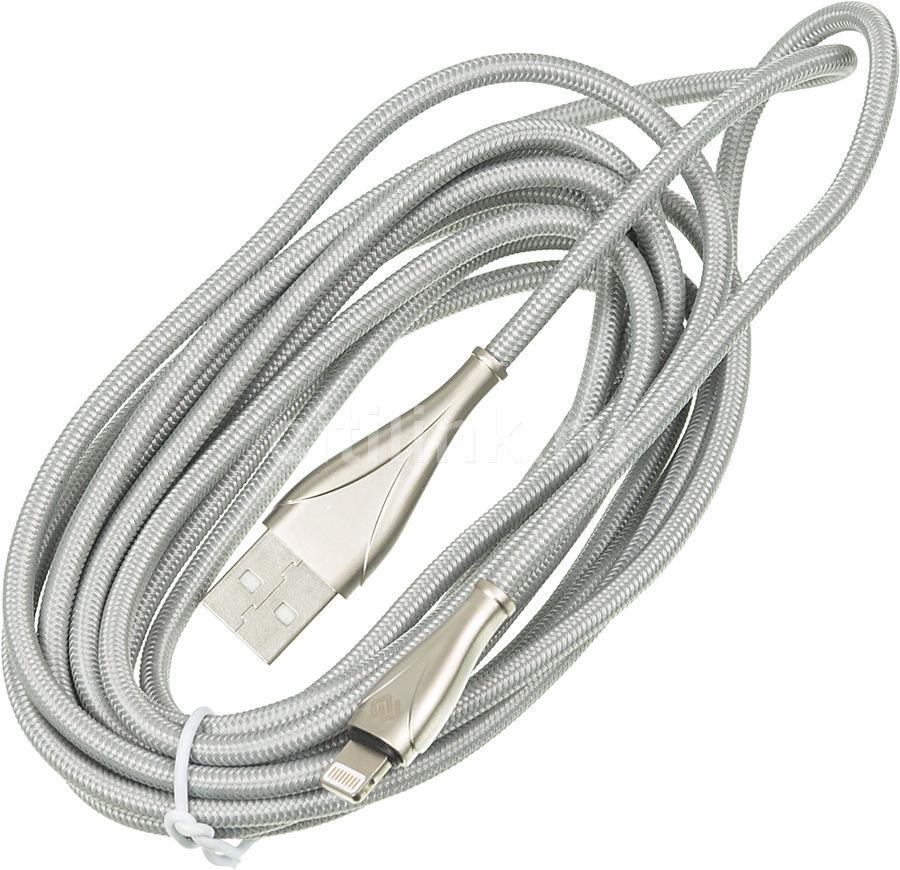 Кабель DIGMA USB A (m),  Lightning (m),  3м,  серебристый