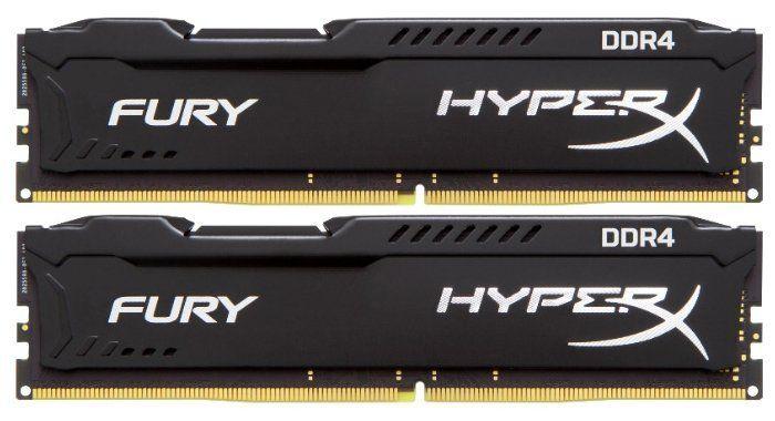 Модуль памяти KINGSTON HyperX FURY Black HX429C17FB2K2/16 DDR4 -  2x 8Гб 2933, DIMM,  Ret