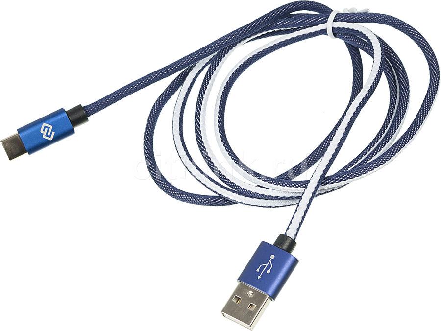 Кабель DIGMA USB A (m),  USB Type-C (m),  1.2м,  синий