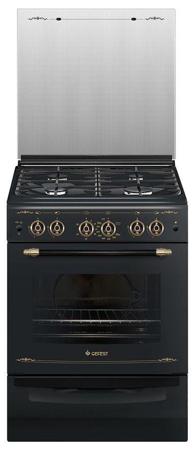 Газовая плита GEFEST ПГ 6100-02 0183,  газовая духовка,  черный