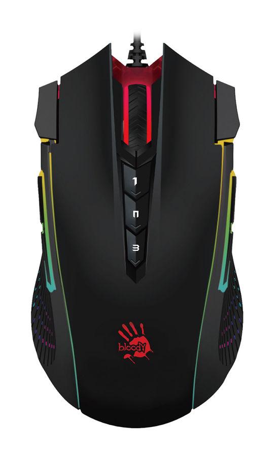 Мышь A4 Bloody J90, игровая, оптическая, проводная, USB, черный