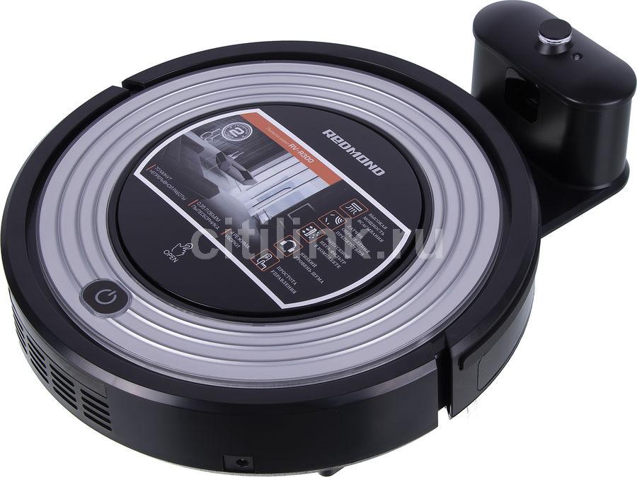 Робот-пылесос REDMOND RV-R300, 25Вт, черный