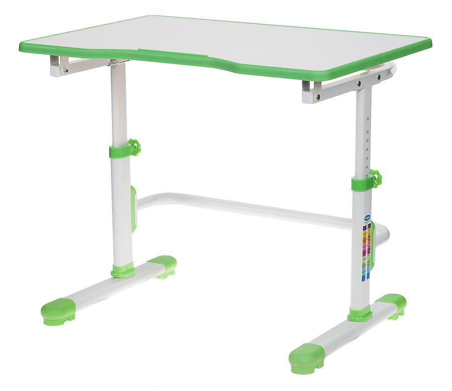Парта школьная Бюрократ CONDUCTOR-001/GREEN белый зеленый столешница ЛДСП каркас белый 79.5х55см