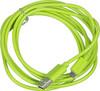 Кабель  Happy plug,  micro USB B (m),  USB A(m),  2м,  зеленый [00153246] вид 1
