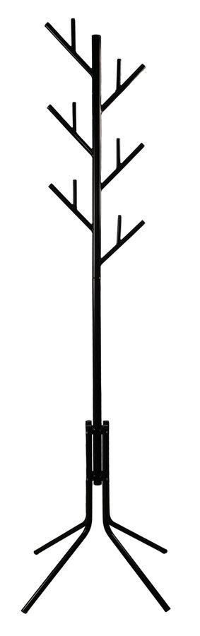 Вешалка напольная Бюрократ CR-003/BLACK черный основание ножки наконечники черный крючки двойные