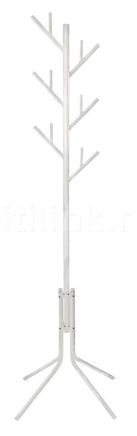 Вешалка напольная Бюрократ CR-003/WHITE белый основание ножки крючки двойные