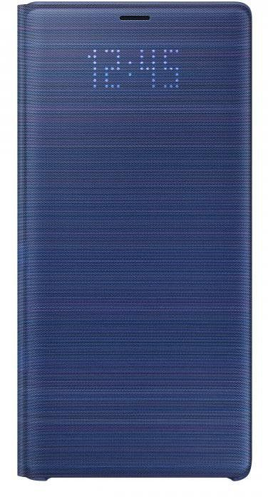 Чехол (флип-кейс) SAMSUNG LED View Cover, для Samsung Galaxy Note 9, синий [ef-nn960plegru]
