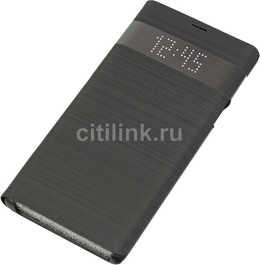 Чехол (флип-кейс) SAMSUNG LED View Cover, для Samsung Galaxy Note 9, черный [ef-nn960pbegru]