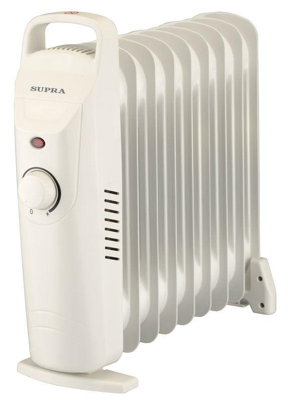 Масляный радиатор SUPRA ORS-09-SP, 900Вт, белый