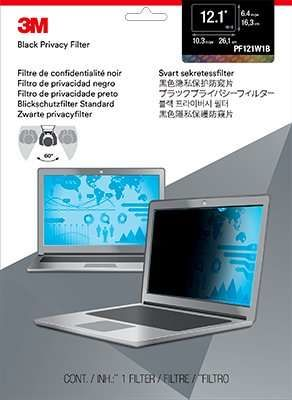 """Пленка защиты информации 3M PF121W1B для ноутбука 12.1"""", 16:10, черный [7000013834]"""