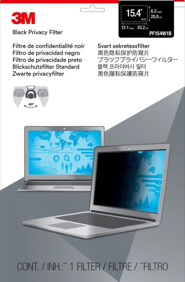 """Экран защиты информации 3M PF154W1B для ноутбука 15.4"""", 16:10, черный [7000013837]"""