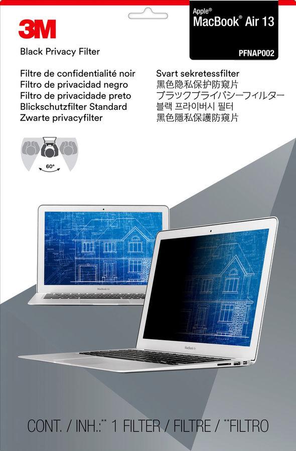 """Пленка защиты информации 3M PFNAP002 для ноутбука Apple MacBook Air 13 13.3"""", 16:10, черный [7100003204]"""