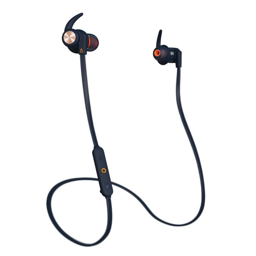Наушники с микрофоном CREATIVE Outlier Sports, Bluetooth, вкладыши, синий [51ef0730aa000]