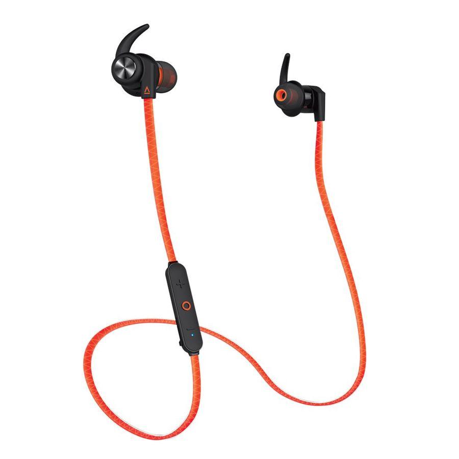 Наушники с микрофоном CREATIVE Outlier Sports, Bluetooth, вкладыши, оранжевый [51ef0730aa002]
