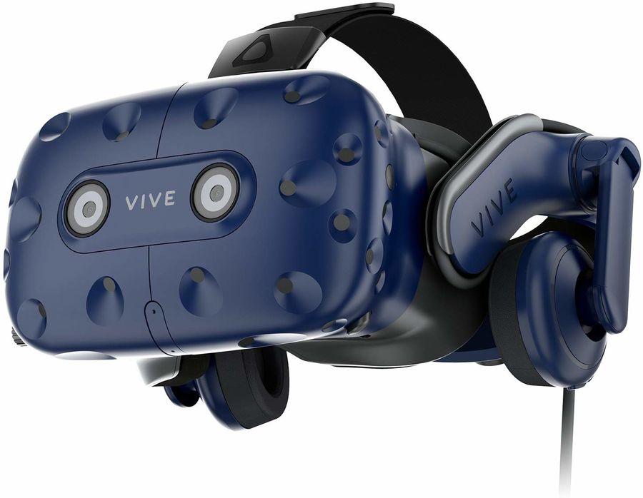 Очки виртуальной реальности HTC Vive Pro,  черный/синий [99hanw020-00]