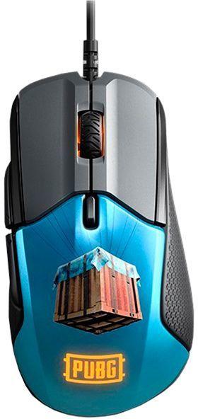 Мышь STEELSERIES Rival 310 PUBG Edition, игровая, оптическая, проводная, USB, рисунок [62435]