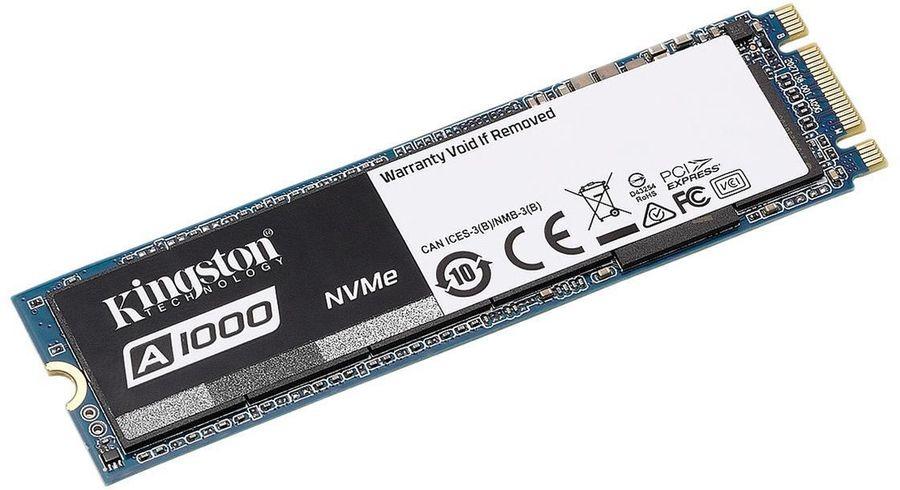 SSD накопитель KINGSTON A1000 SA1000M8/960G 960Гб, M.2 2280, PCI-E x2,  NVMe