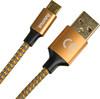 Кабель HAMA 00178287,  micro USB B (m),  USB A(m),  1.5м,  оранжевый вид 2