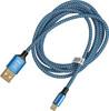 Кабель HAMA 00178289,  micro USB B (m),  USB A(m),  1.5м,  синий