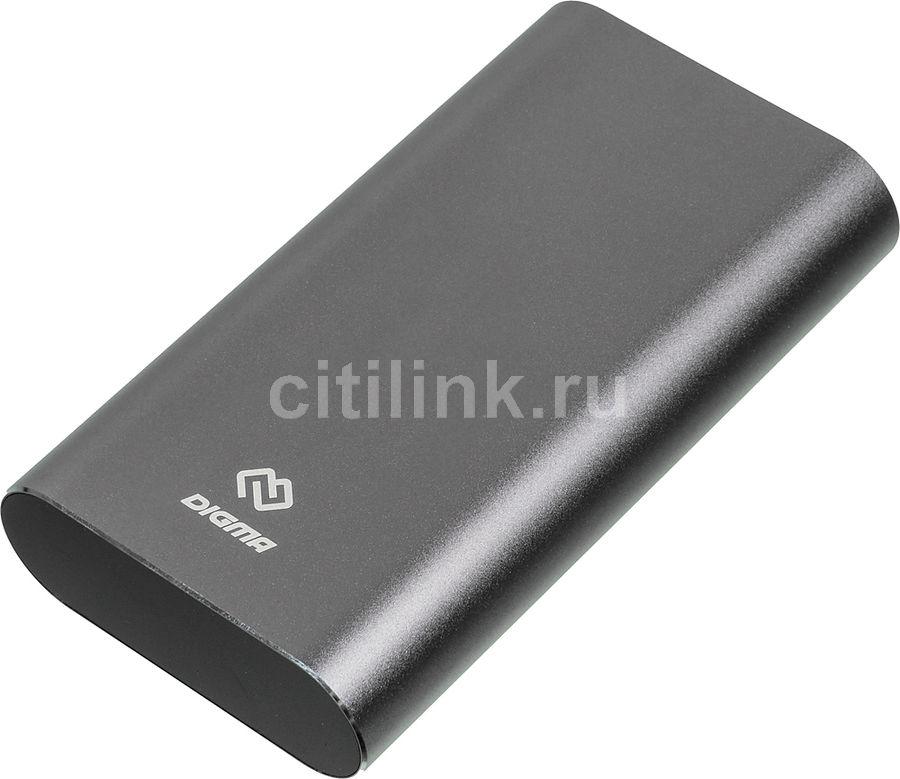 Внешний аккумулятор (Power Bank) DIGMA DG-ME-20000,  20000мAч,  темно-серый
