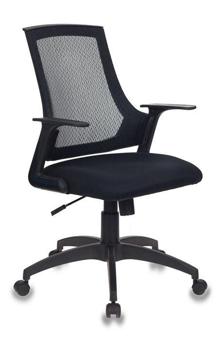 Кресло БЮРОКРАТ MC-301, на колесиках, сетка/ткань, черный [mc-301/b/tw-11]