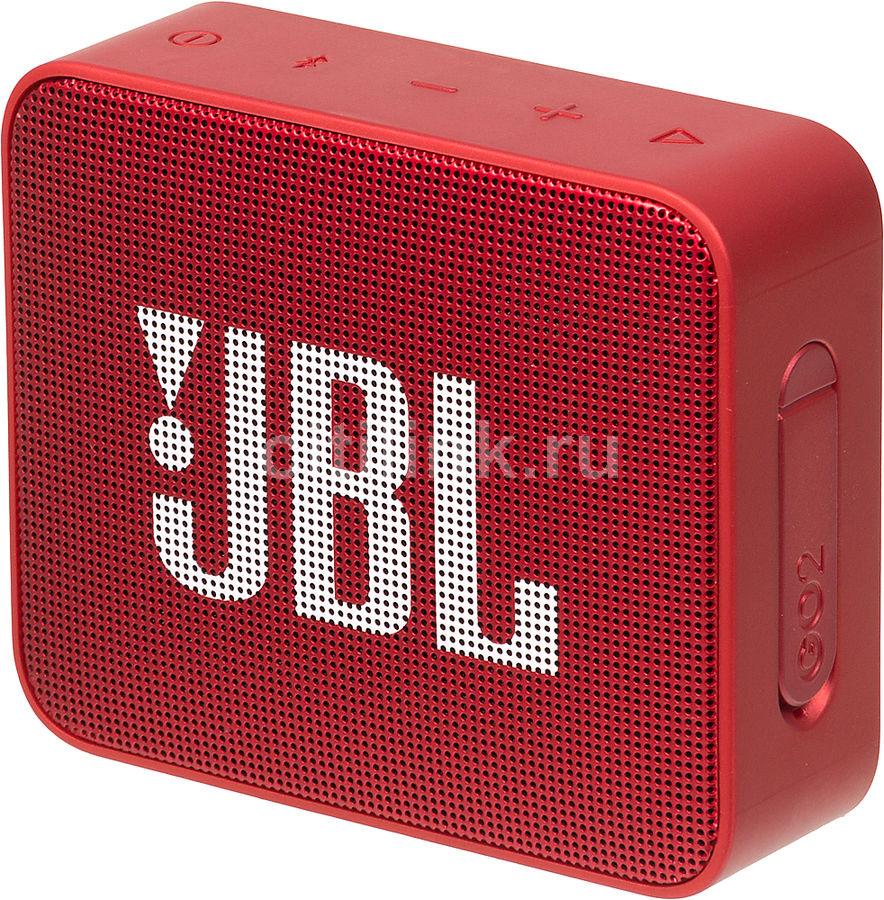 Портативная колонка JBL GO 2,  3Вт, красный