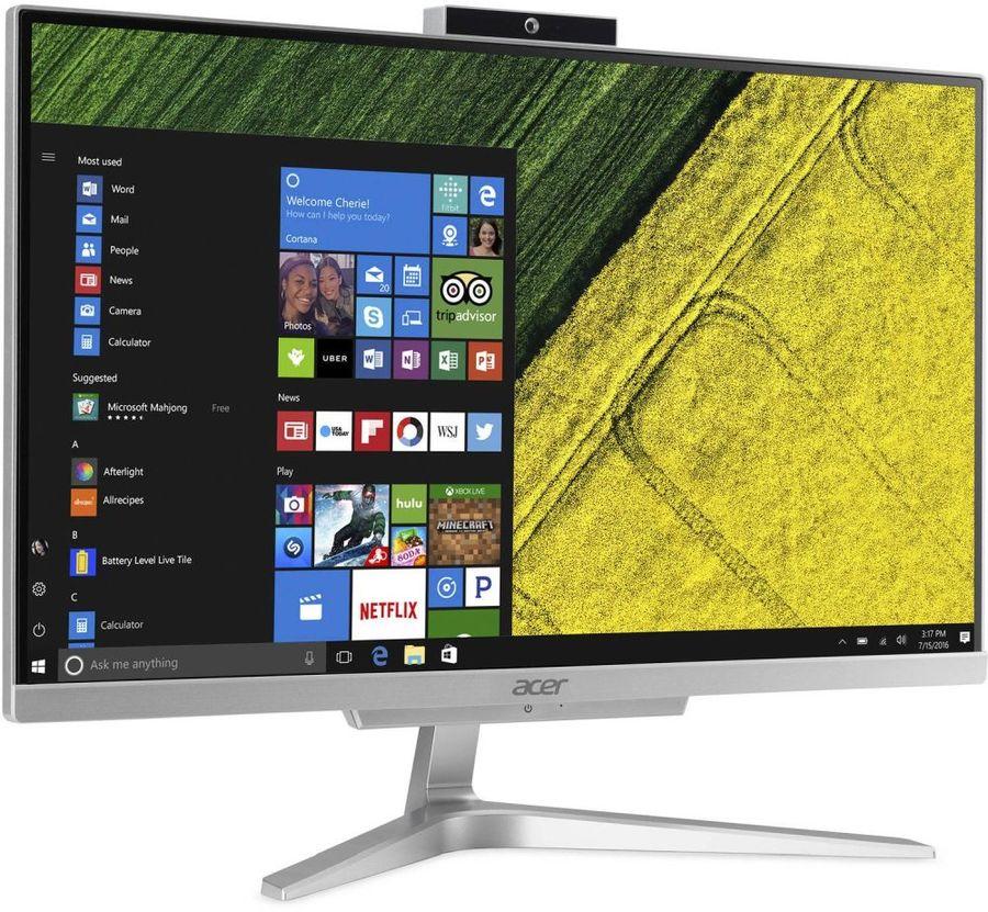 "Моноблок ACER Aspire C22-865, 21.5"", Intel Core i3 8130U, 8Гб, 1000Гб, Intel UHD Graphics 620, Windows 10 Home, серебристый [dq.bbrer.006]"