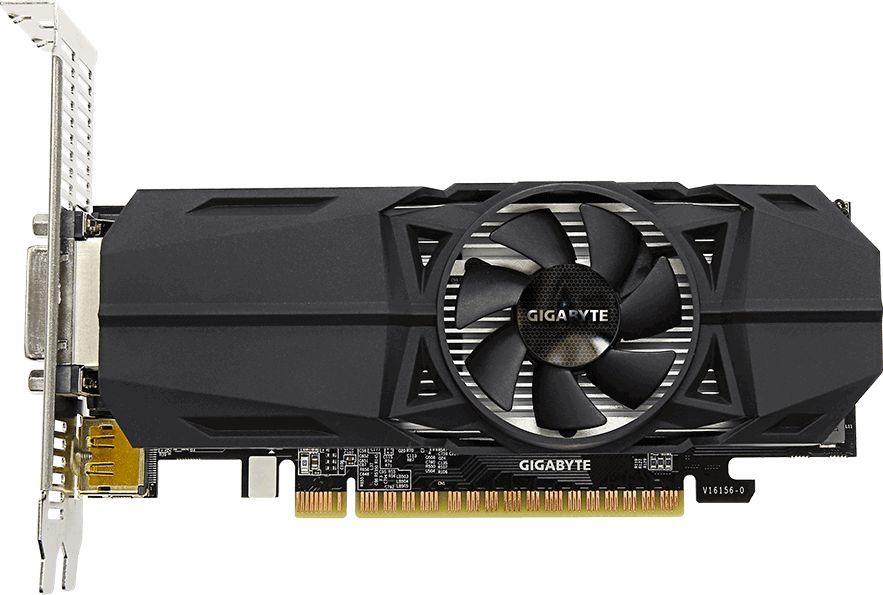 Видеокарта GIGABYTE nVidia  GeForce GTX 1050 ,  GV-N1050OC-3GL,  3Гб, GDDR5, OC,  Ret