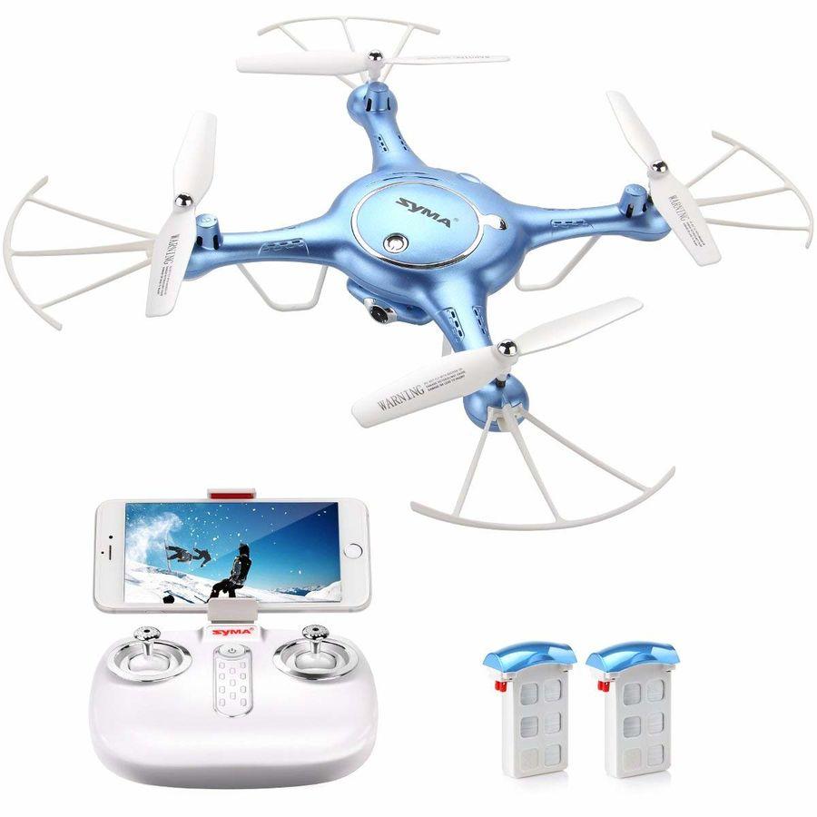 Квадрокоптер SYMA X5UW с камерой,  синий [x5uw blue]