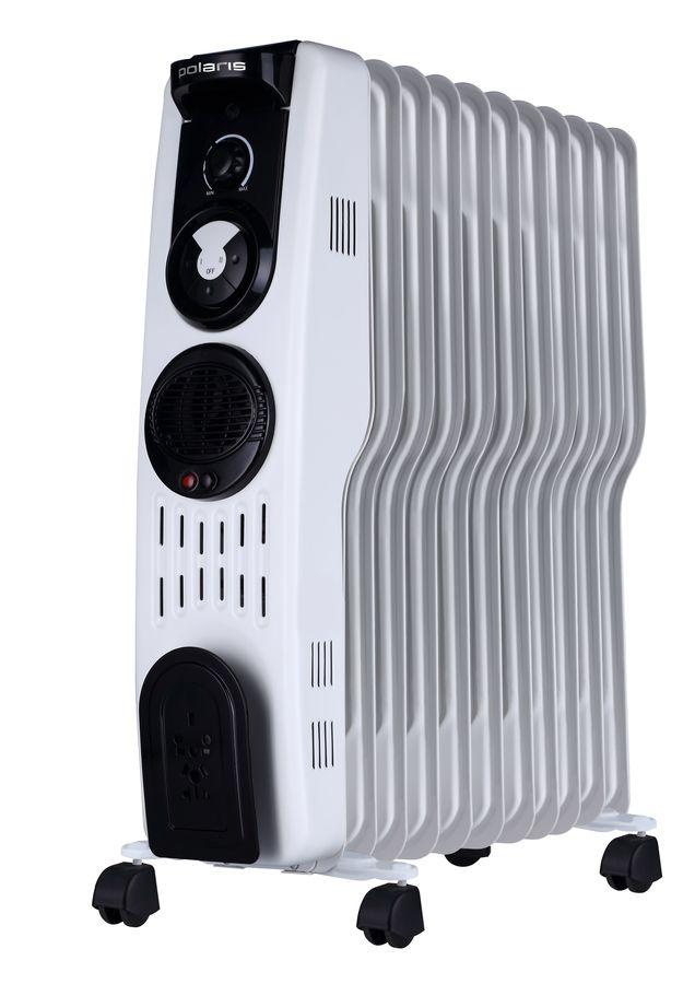 Масляный радиатор POLARIS Wave PRE D 1025, 2500Вт, белый