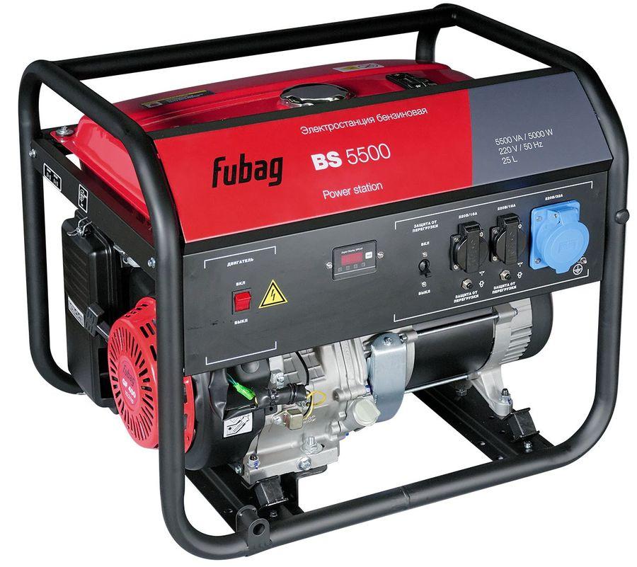 Бензиновый генератор FUBAG BS 5500,  220 В,  5.5кВт [838297]