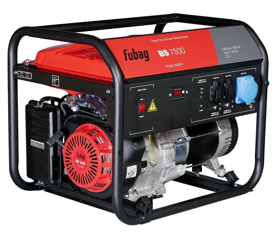 Бензиновый генератор FUBAG BS 7500,  220 В,  7.3кВт [838759]