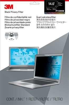 """Пленка защиты информации 3M PF140W9B для ноутбука 14"""", 16:9, черный [7000014517]"""