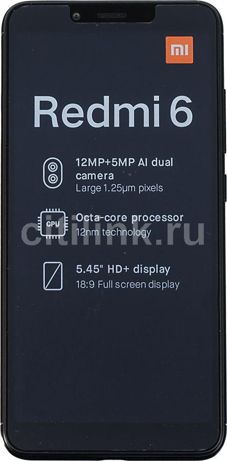 Смартфон XIAOMI Redmi 6 32Gb,  черный