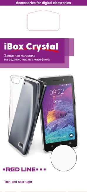 Чехол (клип-кейс) REDLINE iBox Crystal, для Motorola Moto E4 Plus, прозрачный [ут000014541]
